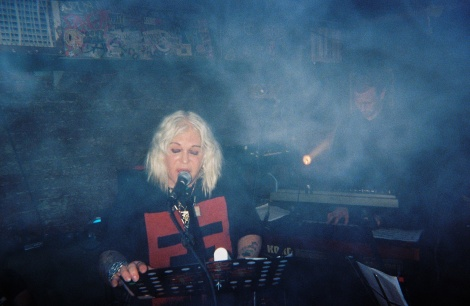 Psychic TV live at thee wierd, August 2011. Disposable camera.