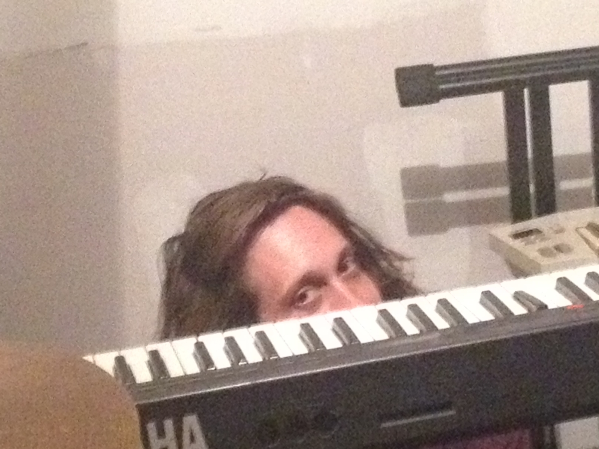 A sly shot of Ivan creeping around after blessing us with several solo covers.