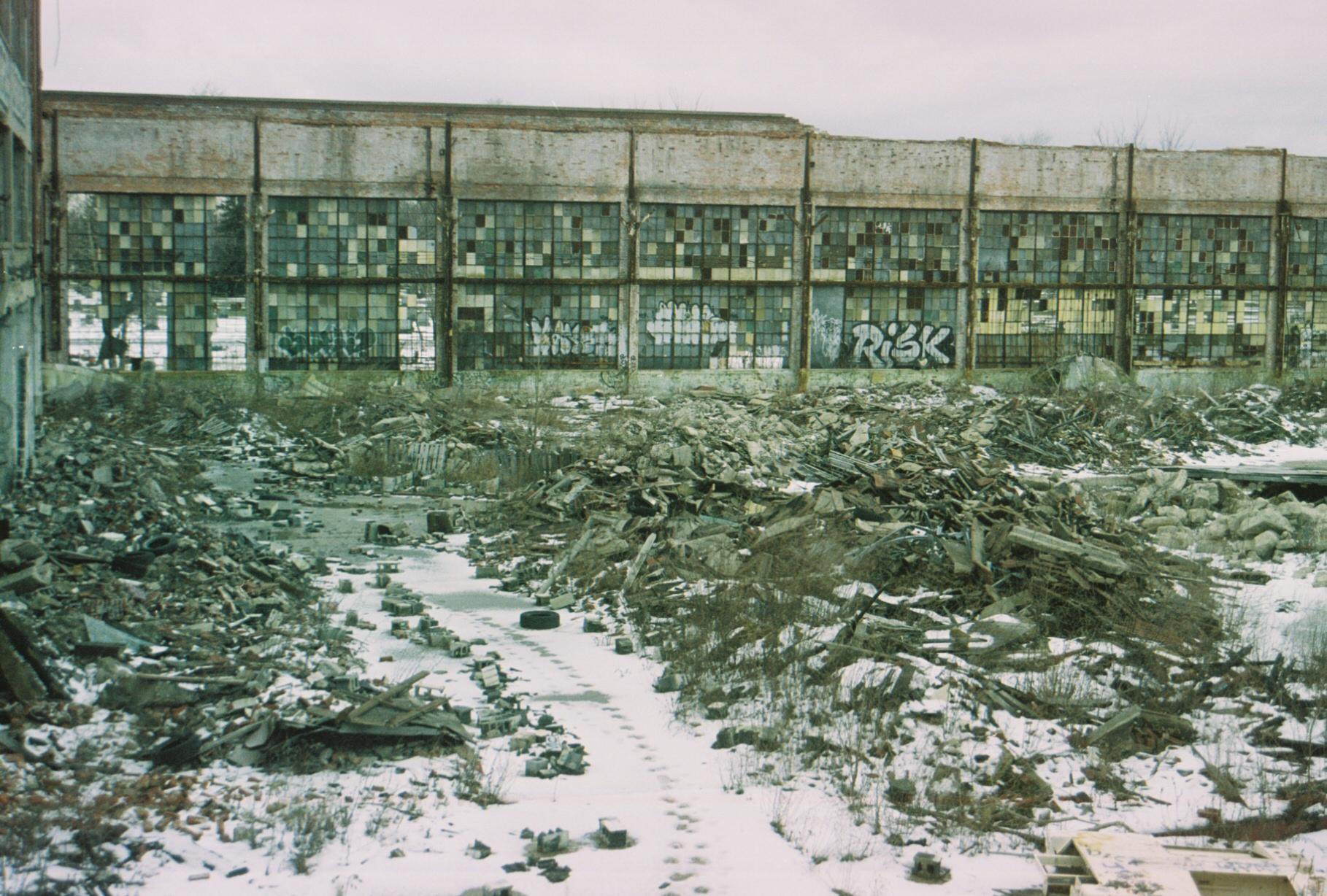 Abandoned Packard plant, Detroit.