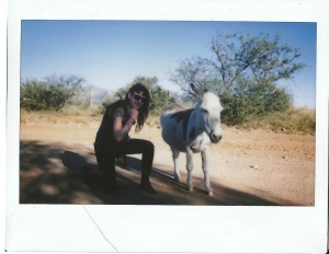 Me with the cat donkey.